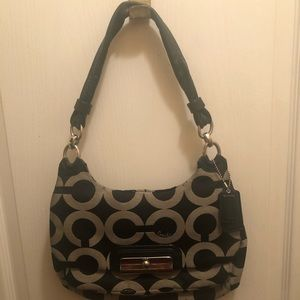 Authentic Coach Handbag kissing C